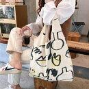 エコバッグバッグトートバッグイラストレディース韓国韓国ファッションシンプルデイリー【送料無料】