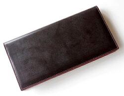 コードバン長財布ブルームブライドル調薄い財布メンズコードバン×バケッタレザー