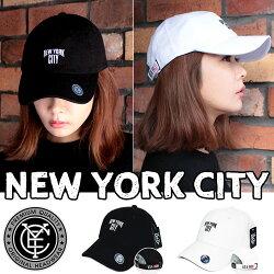 NEWYORKCITYベースボールキャップNYCレディースメンズ帽子ローキャップシンプル男女兼用無地ユニセックスゴルフフリーサイズ野球帽送料無料