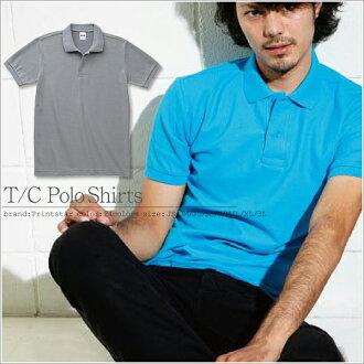 無Printstar Polo shirts short sleeve solid color t/c Polo-Shirt Pocket star prints 24 color JS JM JL SS S M L LL 3 l 4 l 5 l 2P13oct13_b