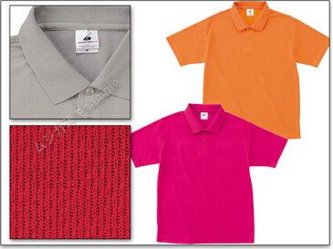 FELIC アクティブポロシャツXS-XXL/白/赤/青/緑/黄色/イエロー/水色/ピンク/オレンジ/紺/紫【44】【3000261】