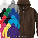 Jellan 8.4oz ジップアップライトパーカー/白/赤/黒/茶色/青/緑/黄色/イエロー/ピンク/紺/紫【1000217】