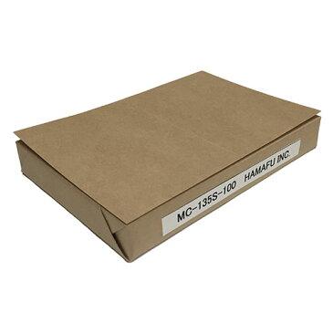 NO.MC135S100 クラフト紙サンクスカード(二つ折り可) (100mmx148mm) 【100枚】DMやサンクスカードに最適! /15時まで あす楽対応(土日祝祭日不可)