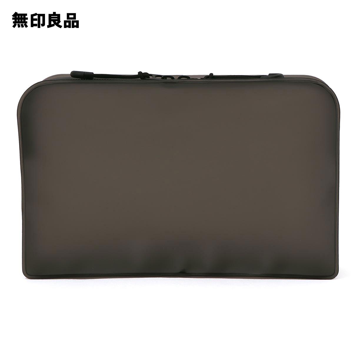【無印良品公式】TPU自立するポーチ・L黒・約12×18.5×4cm