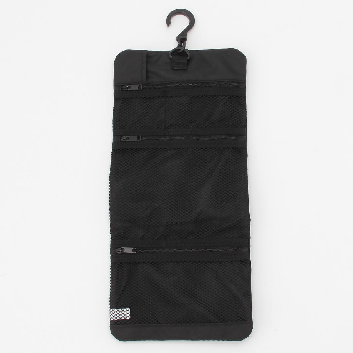 【無印良品公式】ポリエステル吊るせるケース小物ポケット黒・約12×18cm