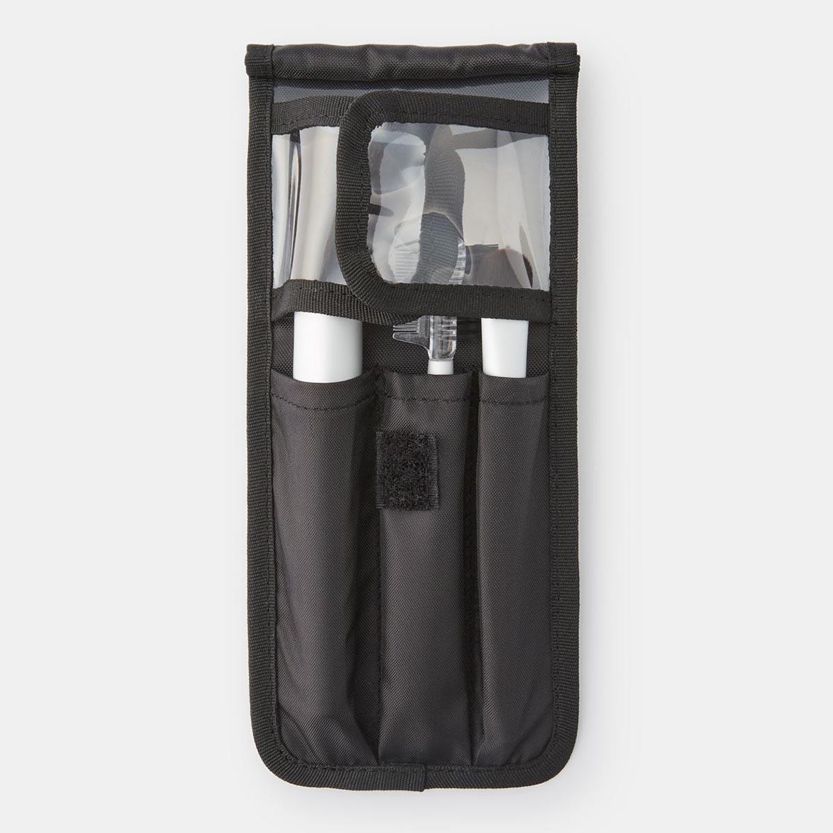 【無印良品公式】ナイロンメイクブラシポーチ黒・約19×8.5×0.5cm