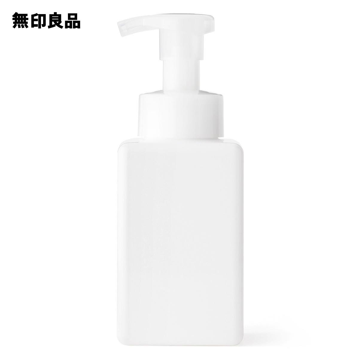 【無印良品 公式】PET詰替ボトル・泡タイプ・ホワイト・400ml用
