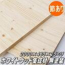 ホワイトウッド集成板 2000×465×25ミリ(15kg)