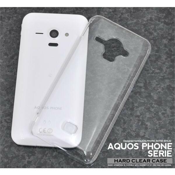 【スマホケース】AQUOS PHONE SERIE SHL22専用クリアケース AQUOS PHONE SERIE SHL22 シンプル クール(スマートフォン・タブレット スマートフォン・携帯電話用アクセサリー ケース・カバー)