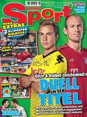 Bravo Sport 2012年4月4日号(Nr.8) 表紙: ゲッツェ(ドルトムント) & ロッベン(バイエルン)【...