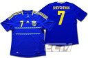 【SALE】ウクライナ代表 アウェイ 半袖 7番シェフチェンコ【2012/ユニフォーム/UKRAINE/サッカー/ユーロ2012】0825