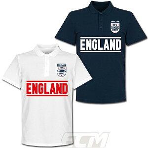 【予約RET06】RE-TAKE イングランド代表 Team ポロシャツ【サッカー/England/ユーロ2020/欧州選手権/POLO】ネコポス対応可能
