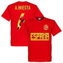 【予約RET06】RE-TAKE イニエスタ SPAIN GALLRY Tシャツ レッド【サッカー/Iniesta/スペイン代表/ヴィッセル神戸】ネコポス対応可能