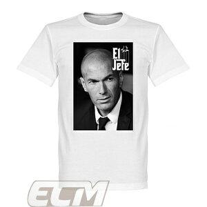 """【予約RET01】RE-TAKE ジダン """"Zidane el Jefe"""" Tシャツ【サッカー/レアルマドリード/フランス代表】ネコポス対応可能"""