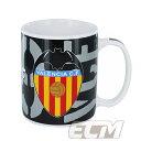【予約ECM12】【国内未発売】バレンシア オフィシャルマグカップ ブラック【サッカー/スペインリーグ/Valencia】