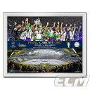 """【予約FTO01】UEFA261UEFAチャンピオンズリーグ16-17 レアルマドリード 優勝記念フォト """"Final Line & Trophy""""【サッカー/Champions League/レアルマドリード/Cロナウド】"""