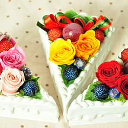生クリームたっぷり♪お花のケーキ/還暦 米寿/開店祝い/新築祝い/お見舞い/お供え/プリザーブド...