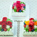 【ケーキ・スクエアveryberry】プリザーブドフラワーギフトとハイドロカルチャーなど観葉植物のお店ムニュムニュ【FlowerMunyuMunyu】