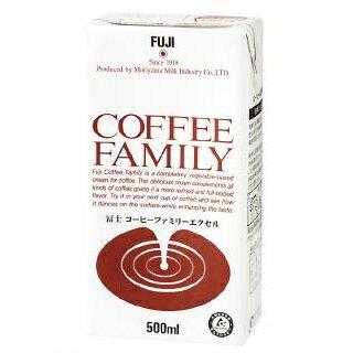 冨士コーヒーファミリーエクセル500mlx12本コーヒーミルクフレッシュ