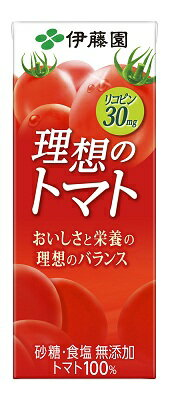 伊藤園理想のトマト200ml紙パック(24本入×2ケース)