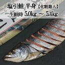 塩引鮭【半身】スライス付き進物用送料無料