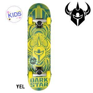 ○【送料無料】キッズ用スケートボードコンプリートセット DARK STAR SCOUR GLOW IN THE DARK CC D8