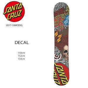 スノーボード 板 SANTACRUZ サンタクルーズ DECAL デカール メンズ 17-18モデル EE H9