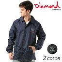 メンズ ジャケット Diamond Supply Co. ダイヤモンド サプライ NY OG SIGN COACH JKT Z18DMPK002CR FF3 D3