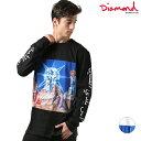 メンズ 長袖 Tシャツ Diamond Supply Co. ダイヤモンド サプライ SAVIOR L/S TEE C18DMTF012 FF3 K6
