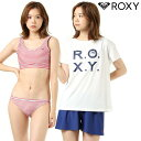 ROXY ロキシー 水着 ビキニ タンクトップ Tシャツ レディース RSW182628M トランクス付き 4点セット タンキニ ムラサキスポーツ限定 GX1 F27