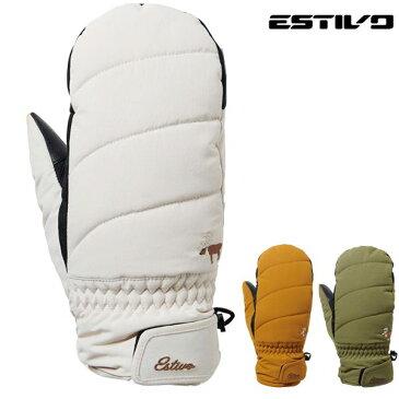 レディース スノーボード グローブ ESTIVO エスティボ EVA8812 EVW QUILT MITTEN 18-19モデル FX K19