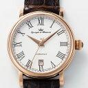 ヨンガー&ブレッソン YBH8567-07 メンズ腕時計Yonger&Bresson フランス 自動巻 送料無料 ホワイト×ダークブラウン プレゼント 記念日 クリスマス 誕生日 贈り物 人気 お祝い ペア おしゃれ 結婚式 メンズ レディース 2