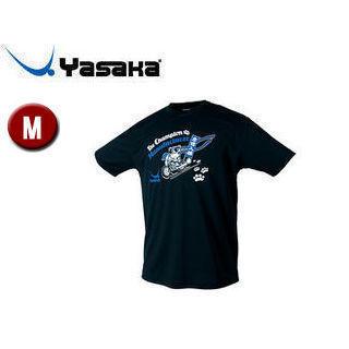 Yasaka/ヤサカ Y893-90 卓球アパレル NEO グラにゃんTシャツ(男女兼用) 【M】 (ブラック)