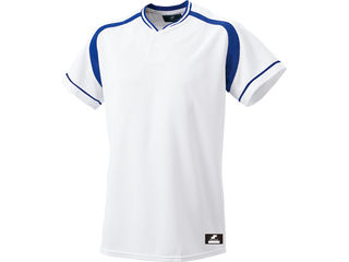 SSK/エスエスケイ BW2200-1063 2ボタンプレゲームシャツ 【L】 (ホワイト×Dブルー)