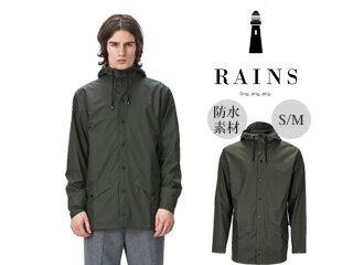 RAINS/レインズ ジャケット レインジャケット  (グリーン) 防水 撥水 レインコート 雨 雪 男女兼用 雨具 合羽