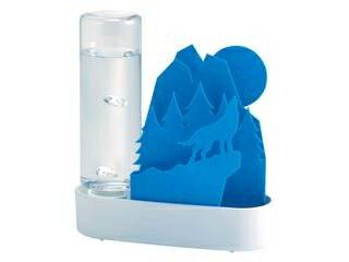 積水樹脂 ECO 加湿器 うるおいアニマル ちいさな森 ブルー・オオカミ