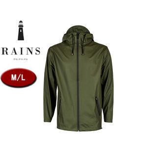 RAINS/レインズ ブレーカー レインジャケット 止水ファスナー  (グリーン) 防水 撥水 レインコート 雨 雪 男女兼用 雨具 合羽