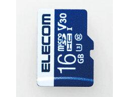 ELECOM エレコム データ復旧microSDHCカード UHS-I U3 V30 16GB MF-MS016GU13V3R