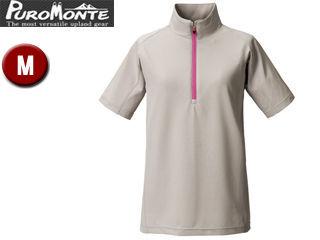 Puromonte/プロモンテ TN157W-GY トリプルドライカラット ライトウェイト 半袖ジップシャツ レディース  (グレー)
