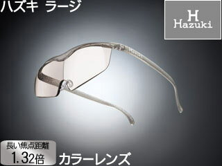 メガネ型拡大鏡 ラージ 1.32倍 カラーレンズ チタンカラー