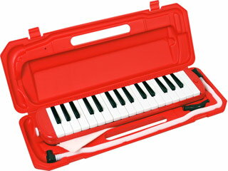 キョーリツコーポレーション 鍵盤ハーモニカ 32鍵【メロディーピアノ】P3001-32K/RD(レッド) 【ピアニカ】【メロディオン】【ドレミファソラシールつき!】 【小学校での使用に適した32鍵盤】【kbh2017】