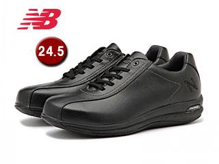 WW863-BK2-2Eトラベルウォーキングシューズウィメンズ【24.5】【2E(幅広)】(ブラック)