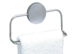 タオルが乾きやすいWアームASVEL/アスベル レア タオルリング ステンレス はがせる両面テープ付き