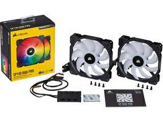 CORSAIR/コルセア RGB LED PCファン iCUE SP140 RGB PRO Dual Fan Kit with Lighting Node コントローラー付 CO-9050096-WW