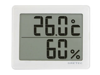 DRETEC/ドリテック O-226WT デジタル温湿度計「アクリア」(ホワイト)