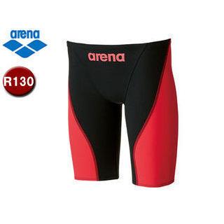 arena/アリーナ ARN7011MJ AQUAFORCE FUSION-2 ジュニアハーフスパッツ 【R130】 (BK×レッド)