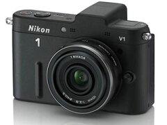 【送料無料】【smtb-u】【1/6入荷分】Nikon/ニコン NIKON1 V1薄型レンズキット(ブラック) 【...