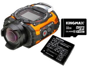 【送料無料】【smtb-u】【スペア電池&32GB マイクロSDHCカードセット】 RICOH/リコー RICOH WG...