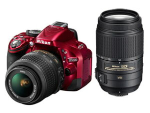 【送料無料】【smtb-u】Nikon/ニコン D5200 ダブルズームキット(レッド)【送料代引き手数料...