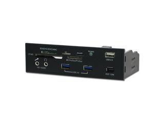 マザーボード上のUSB・IEEE 1394・オーディオの各ヘッダーを5インチベイに延長!ainex 5インチ...